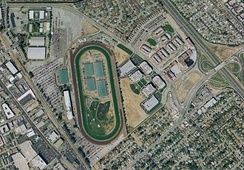 Aerial view of the track in 2002 prior to demolition