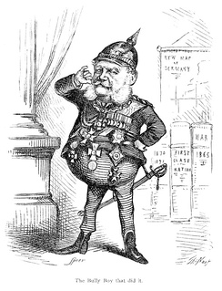 Caricature of William I by Thomas Nast which appeared in The Fight at Dame Europa's School by Henry William Pullen