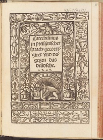 A translation of catechisms into Old Prussian published in 1545 in Königsberg