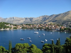 Panoramic view of Cavtat, Croatia