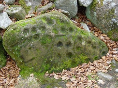 Cup marks on the northern cairn at Balnuaran of Clava