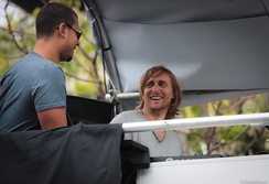 Guetta on stage with Afrojack, 2011