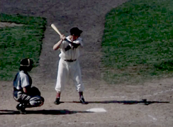 Dom at bat in the early 1950s