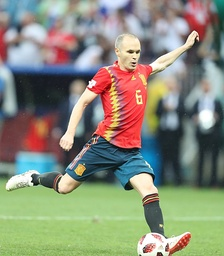 Iniesta with Spain at the 2018 FIFA World Cup in Russia