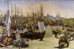 Édouard Manet: Harbour at Bordeaux, 1871
