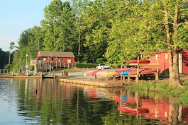 Beaverdam Park headquarters and boat launch