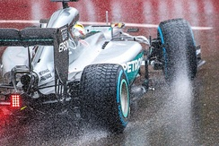 Rain tyres (full wets) as seen on Lewis Hamilton's car during the 2016 Monaco Grand Prix