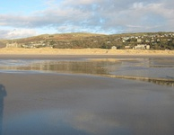 Harlech Beach at low tide
