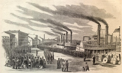 Union Troops arrive at Louisville, 1862