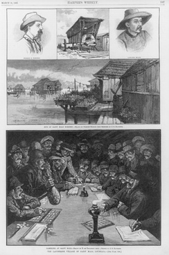 "Images from a Harper's Magazine article on ""the Lacustrine village"" of Saint Malo, Louisiana, where Filipino migrants settled in the 18th century."