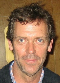 Hugh Laurie made his own audition tape while shooting a film in Namibia.