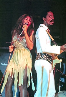 Turner performing with Ike Turner at Hamburg, Germany, in 1972