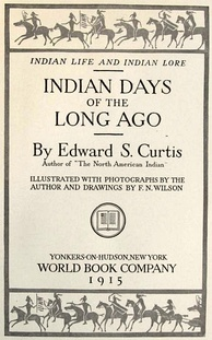 cover page of Indian Days of the Long Ago published in 1915