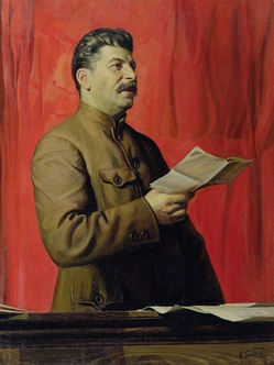A portrait of Stalin by Isaak Brodsky.