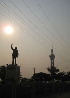 Tower of Limete and monument to Lumumba