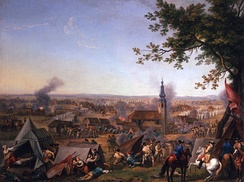 The Battle of Hochkirch in Saxony