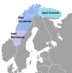 The Sami languages in Northern Europe