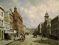 Queen Street (c.1889); painting by Jacques Carabain