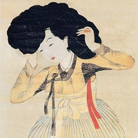 Korean traditional wig (Gache)