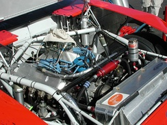 A typical NASCAR Cup Series engine.