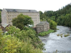 New Lanark, cotton mills and housing on the River Clyde, founded in 1786