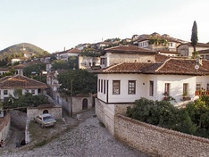 The old town of Berat is dominated by Ottoman houses.
