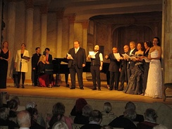 Swedish opera singers in a tribute to Kjerstin Dellert and the Ulriksdal Palace Theater at the 40-year jubilee in 2016 of its funding, renovation and subsequent reopening