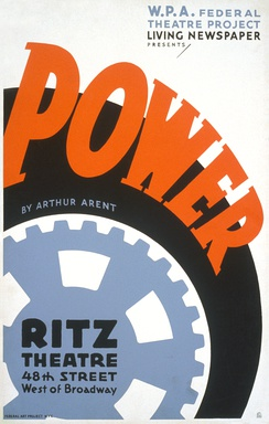 Poster for Power, a Living Newspaper play for the Federal Theatre Project (1937)