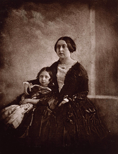 Queen Victoria with the Princess Royal, ca. 1844-45