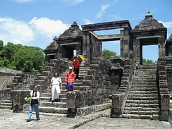 The gate of Ratu Boko Palace compound.