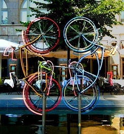 Robert Rauschenberg, Riding Bikes, Berlin, Germany, 1998.