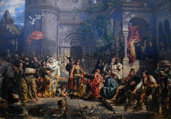 Reception of the Jews (in Poland, 1096), by Jan Matejko, 1889