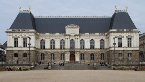 Façade of the palace of Parlement of Brittany