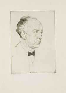 Richard Strauss, por Emil Orlik, 1916.