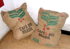 Brazilian coffee sacks