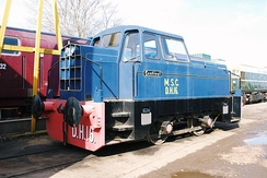 Sentinel 0-4-0 diesel-hydraulic shunter No.10175, former MSC Railway No.DH16, now preserved at the West Somerset Railway