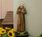 Statue in St Joseph Church in Hamburg, in the borough of Wandsbek, Germany