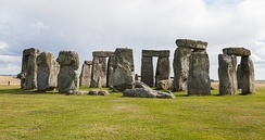 The stones of Stonehenge, in Wiltshire, were erected between 2400 and 2200 BC