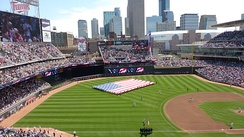 Armed Services Appreciation Day, on July 3, 2011. The Twins set a three-game series attendance record (123,385) against the Milwaukee Brewers.