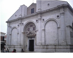 Plethon's final resting place was moved to the Tempio Malatestiano in Rimini, Italy by his Italian disciples.