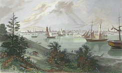The City of Detroit (from Canada Shore), 1872, by A. C. Warren