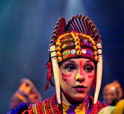 A dancer during a performance of ''Festival of the Lion King'' at Disney's Animal Kingdom.