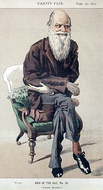 Charles Darwin by James Tissot in the 30 September 1871 issue