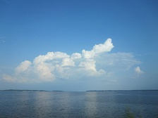 Toledo Bend Reservoir on the Louisiana and Texas border.
