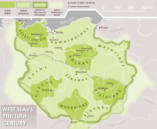 West Slav tribes in 9th–10th centuries