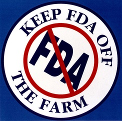 "In 1995, FDA's assertion of authority to regulate tobacco drew heavy opposition from the tobacco community, which erupted into lawsuits and slogans urging ""Keep FDA Off the Farm."""