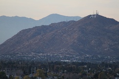 View of Box Spring Mountain from Moreno Valley College