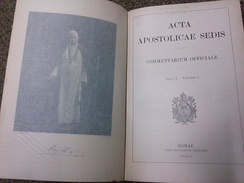 Cover page and leaf of Vol. 1, No. 1 of the Acta Apostolicae Sedis (1909)