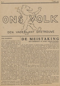 Ons Volk, a Dutch underground newspaper printed by the resistance