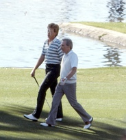 Williams at the Bob Hope Classic golf tournament, 1986